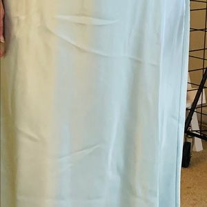 Aqua Long Gown and Matching Robe from Jones NY